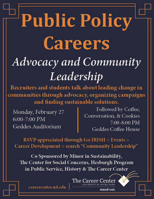 Career Panel Advocacy Community Leadership